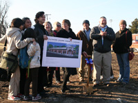 Groundbreaking ceremony for the new SoBoCo Library