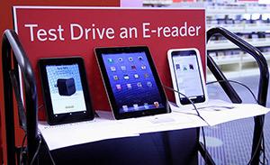 e-reader testing station