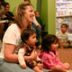 Mom and kids at Story Time