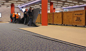 Columbia Public Library is being re-carpeted.
