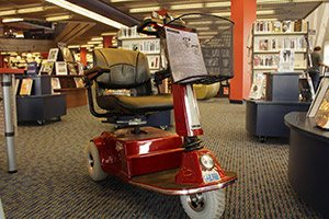 Mobility scooter at Columbia Public Library
